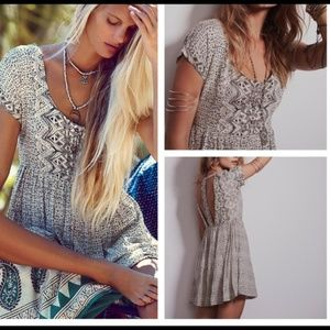 Free People Sundown Babydoll Dress small